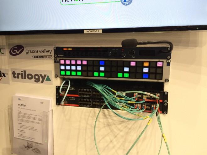 Commutation IP et panel sur le stand EBU