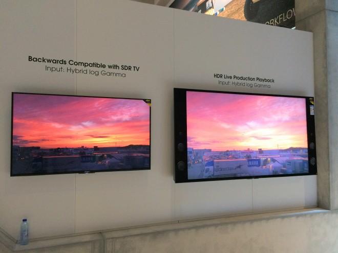 Comparatif SDR (Standard Dynamic Range) et HDR (High Dynamic Range) chez Sony